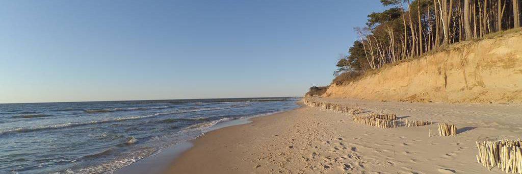nadmorska plaża w Wiciu