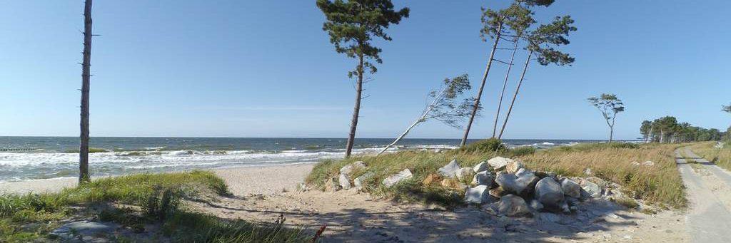 wycieczki - wał pomiędzy morzem a jeziorem kopań