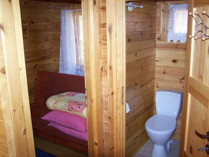 pomieszczenia domku 5 osobowego
