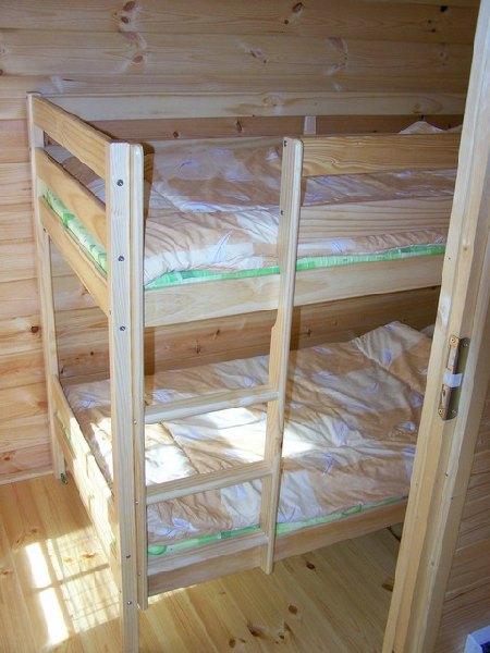 łóżko 2 osobowe domu dla 4 wczasowiczów